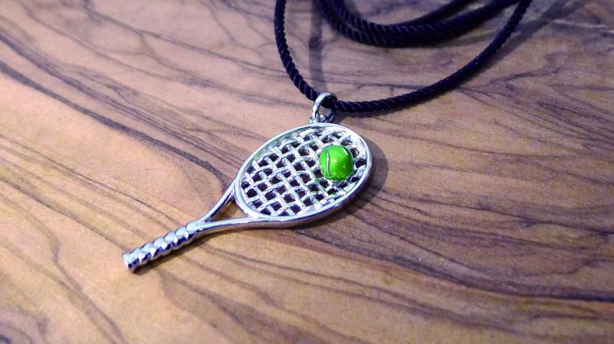 OD075~ 925 Silver Pendant w/ Green Enamel