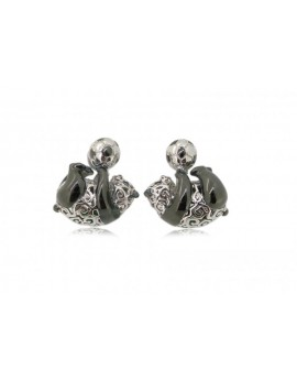 HK067~ 925 Silver Panda Earrings