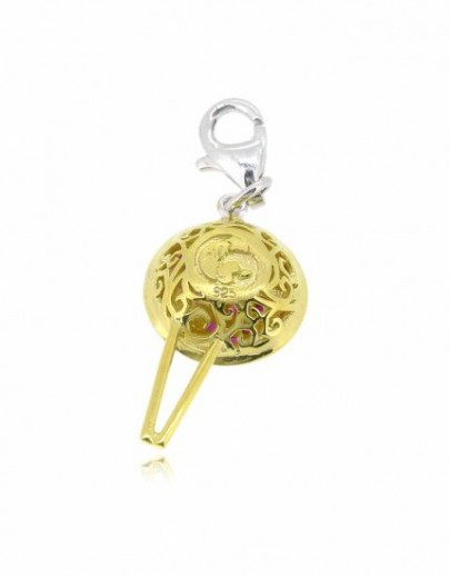 HK024~ 925 Silver Chinese Pudding Charm(15mm)