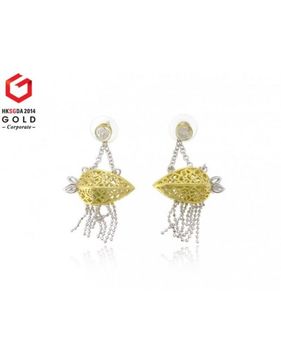 HK041~ 925 Silver Starfruit Lantern Earrings