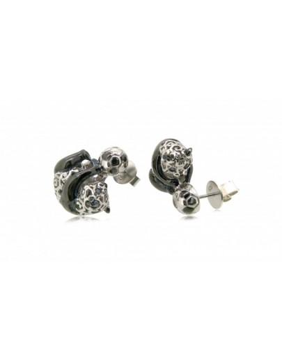 HK067~ 925 Silver Panda Earrings