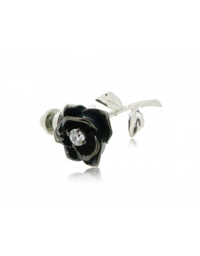 HK098~ 925 Silver Rose Brooch