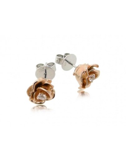 HK100~ 925 Silver Rose Earrings