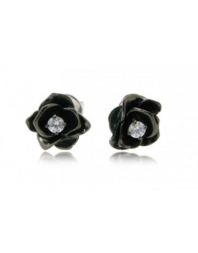 HK102~ 925 Silver Rose Earrings