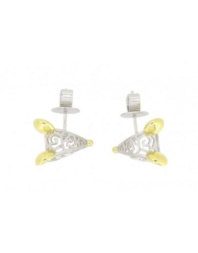 HK104~ 925 Silver Rat Shaped Earrings
