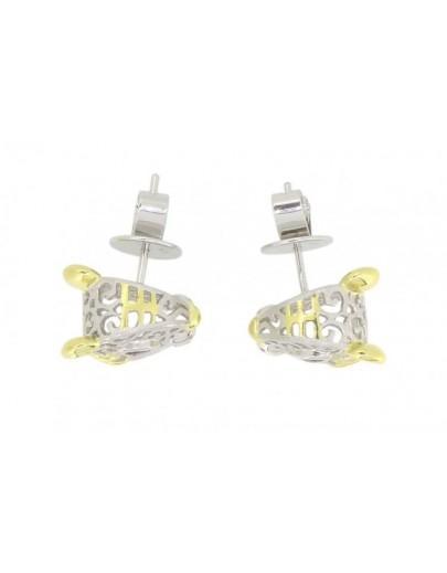HK106~ 925 Silver Tiger Shaped Earrings