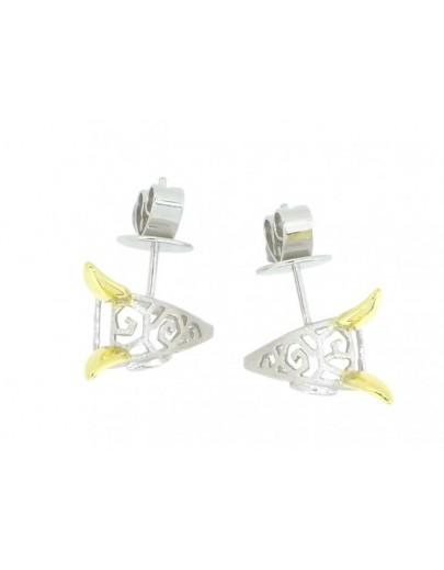 HK107~ 925 Silver Rabbit Shaped Earrings