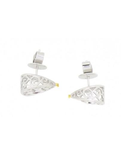 HK109~ 925 Silver Snake Shaped Earrings