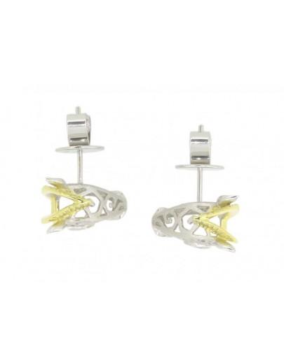 HK110~ 925 Silver Horse Shaped Earrings