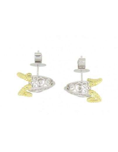 HK111~ 925 Silver Goat Shaped Earrings