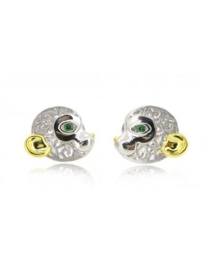 HK112~ 925 Silver Monkey Shaped Earrings