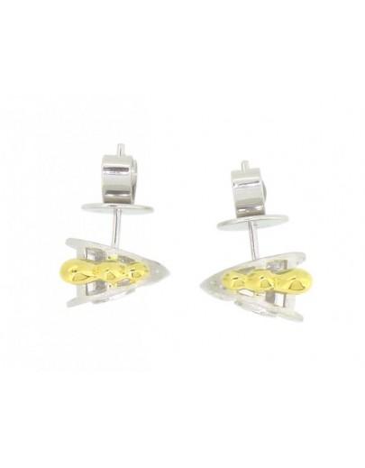 HK113~ 925 Silver Rooster Shaped Earrings