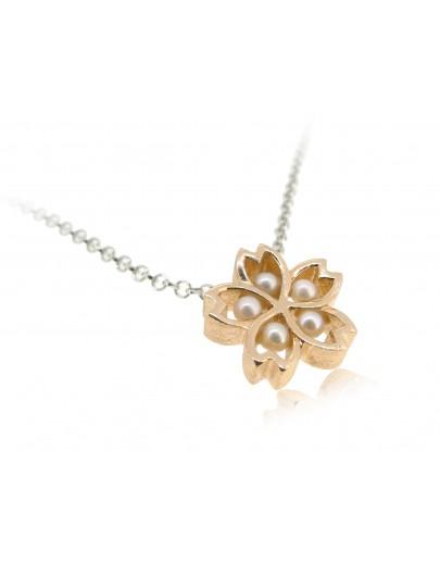 HK175 ~ 925 Silver Sakura Pendant