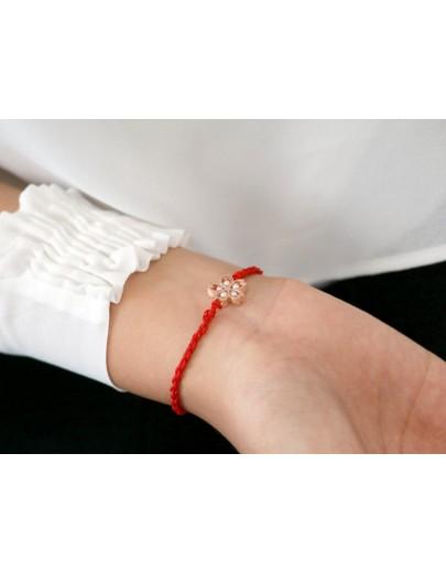 HK177 ~ 925 Silver Sakura Rope Bracelet