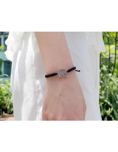 HK205~ 925 Silver  FxxK Rope Bracelet