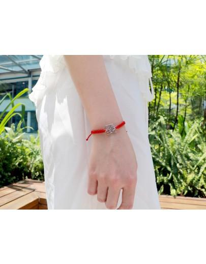 HK209~ 925 Silver  Love Rope Bracelet