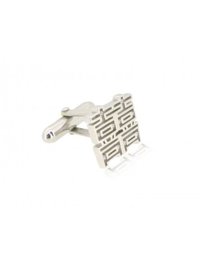 HK211~ 925 Silver  Double Happiness Cufflink
