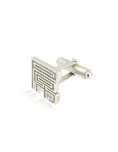 HK212~ 925 Silver  FxxK Cufflink