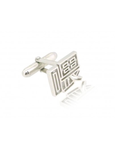 HK215~ 925 Silver  Hey Cufflink