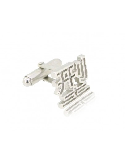 HK217~ 925 Silver  Cool Cufflink
