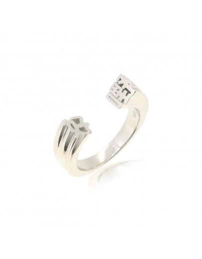 HK227~ 925 Silver  Yeah Ring