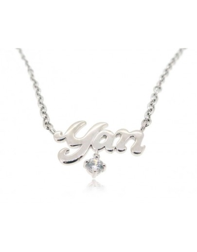 OD012~ 925 Silver White Topaz Necklace
