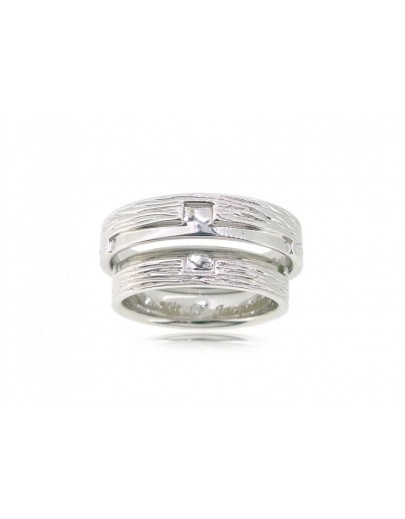 OD020~ 18K White Gold Diamond Wedding Rings