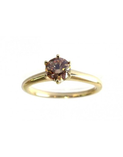 OD022~ 18K Yellow Gold Yellow Diamond Ring