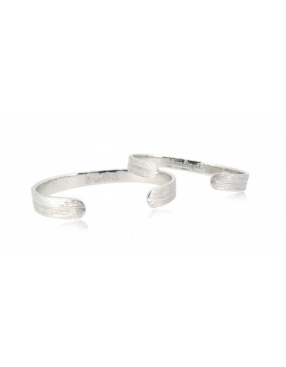 OD030~ 925 Silver Diamond Lover Bangles
