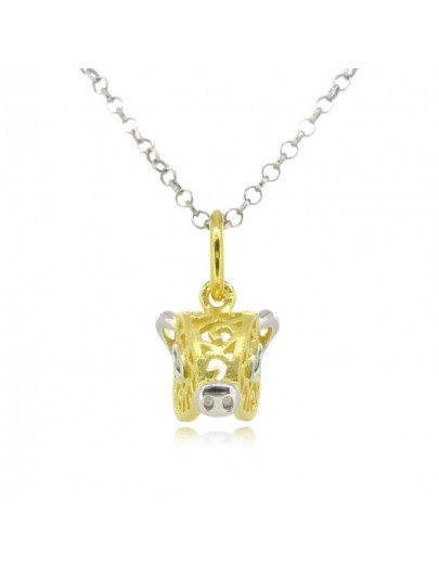 OD058~ 925 Silver Pig Shaped Pendant