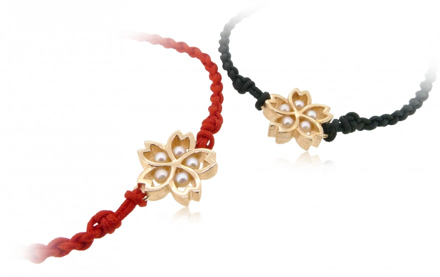 HK177 ~ 925銀櫻花造型手繩