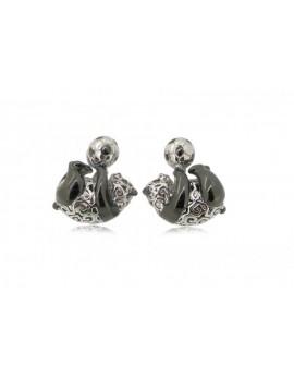 HK067~ 925銀熊貓造型耳環