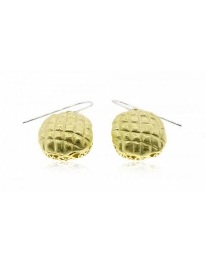 HK019~ 925銀菠蘿包造型耳環(15mm)