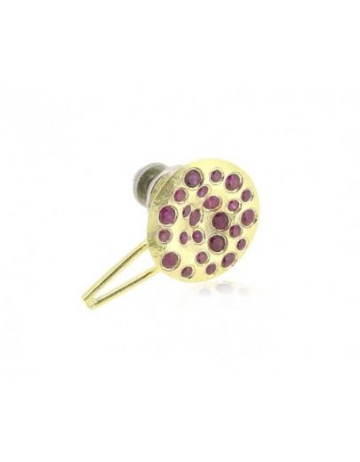 HK047~ 925銀缽仔榚造型領針(15mm)