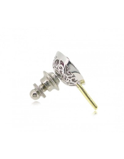 HK048~ 925銀缽仔榚造型領針(15mm)