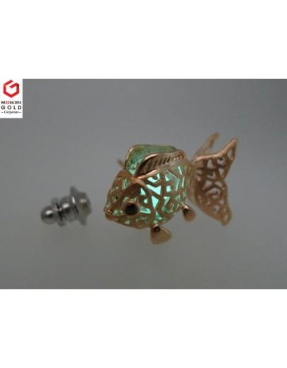 HK060~ 925銀金魚燈籠造型領針