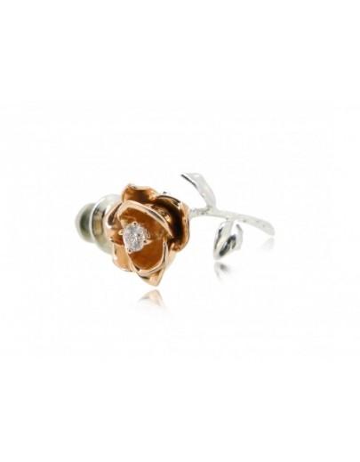 HK096~ 925銀玫瑰花造型領針