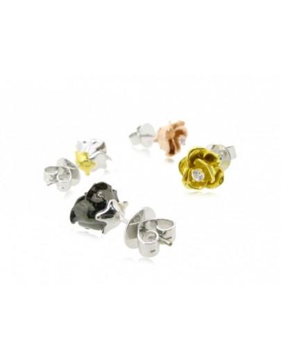 HK103~ 925銀玫瑰花造型耳環