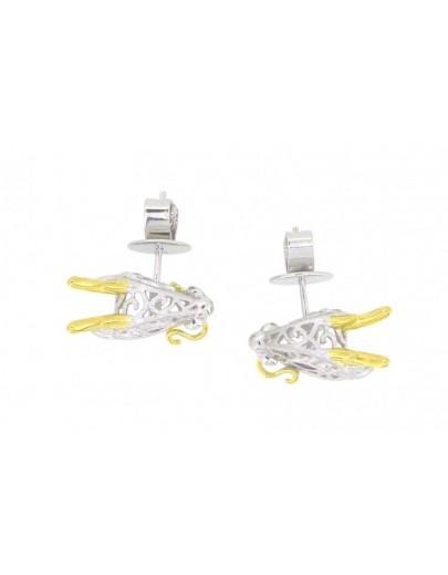 HK108~ 925銀龍年造型耳環