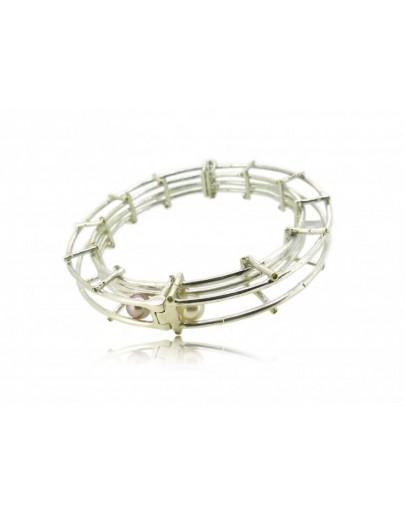 HK124~ 925銀竹節珍珠手扼