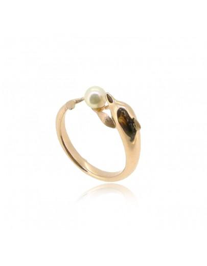 HK184~ 中華白海豚造型925純銀戒指 連天然珍珠