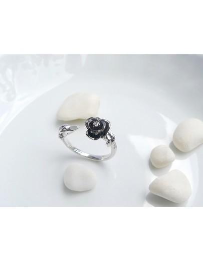 HK195~ 925銀玫瑰花造型戒指