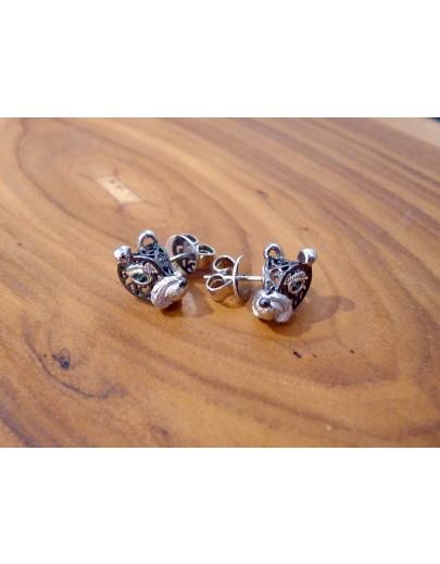 HK241b ~ 925銀狗年造型耳環 (2018特別版)