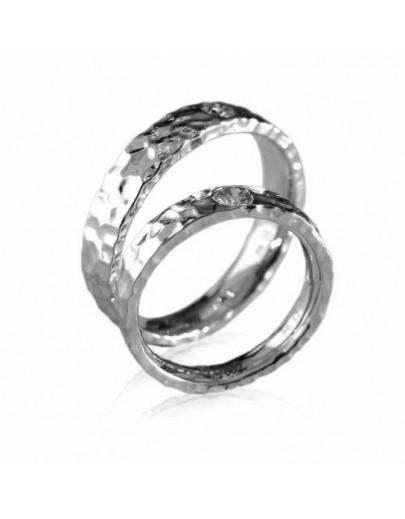 OD002~ 18K白金鑽石結婚戒指