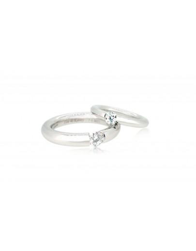 OD018~ 18K白金鑽石結婚戒指