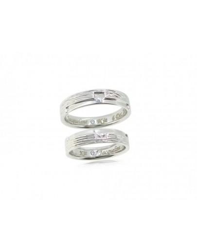 OD020~ 18K白金鑽石結婚戒指