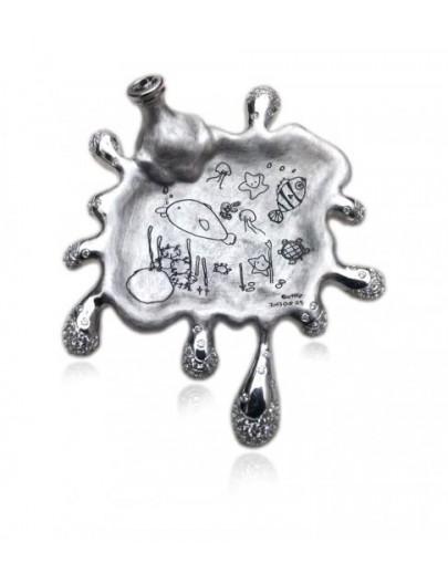 OD026~ 925銀施華洛世奇石胸針