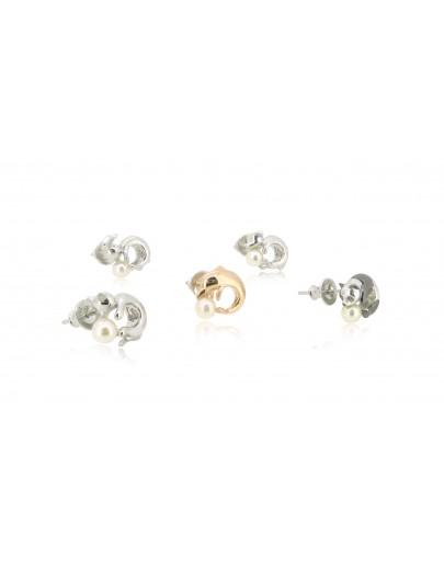 HK192~ 貓喵造型925純銀耳環 連天然珍珠