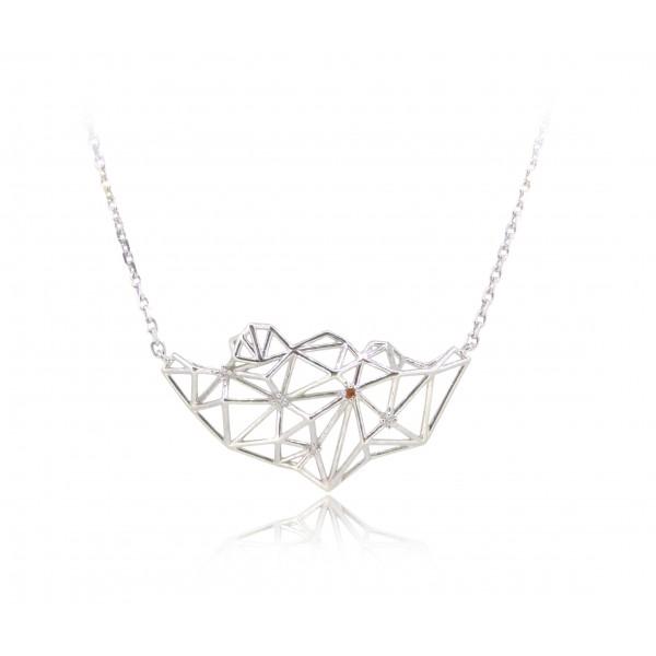 HK269~ 925 Silver Lion Rock Necklace
