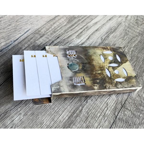 HK289old~ 925 Silver Letter Box Shaped Card Holder